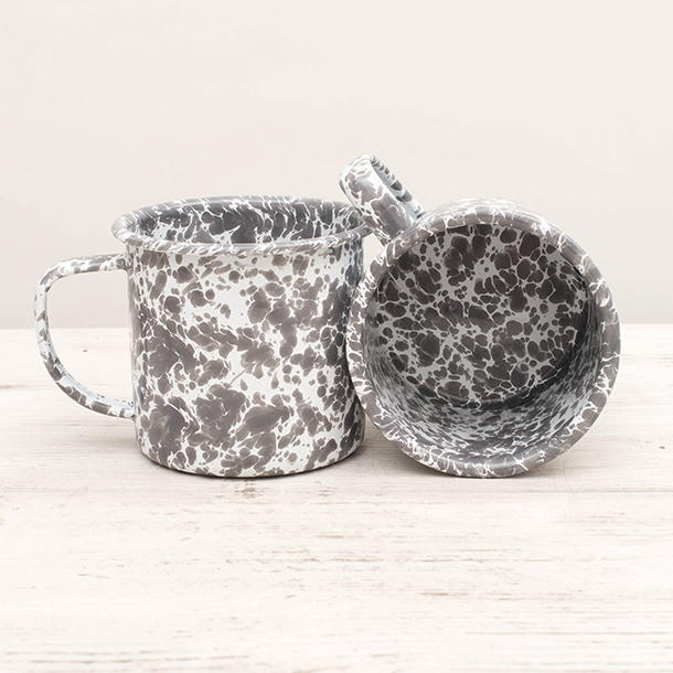 Spatterware Mug Grey