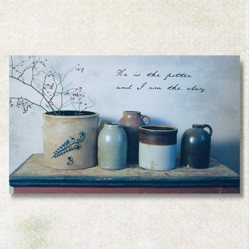 Potter & Clay Canvas Art Piece