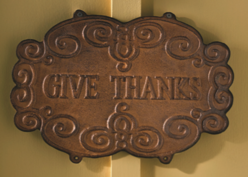 Give Thanks Vintage Sign