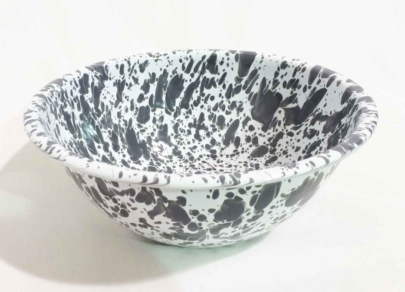 Spatterware Serving Bowl Grey